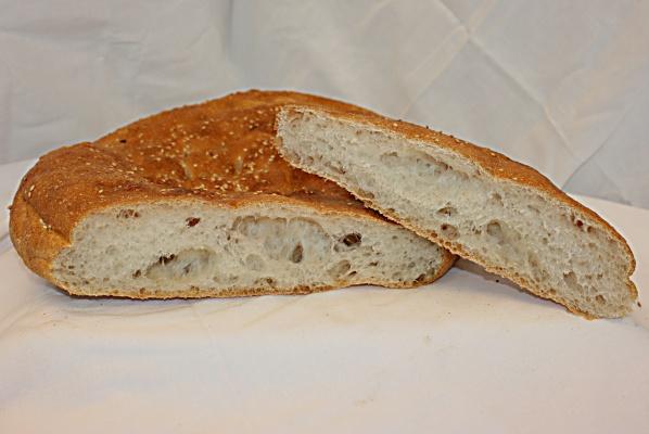 Grote sandwich van Turks brood (voor 4 personen)
